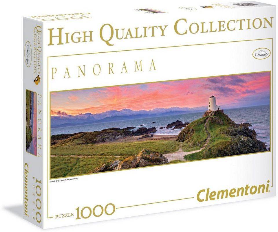 Clementoni Puzzle, 1000 Teile, »Panorama Leuchtturm«
