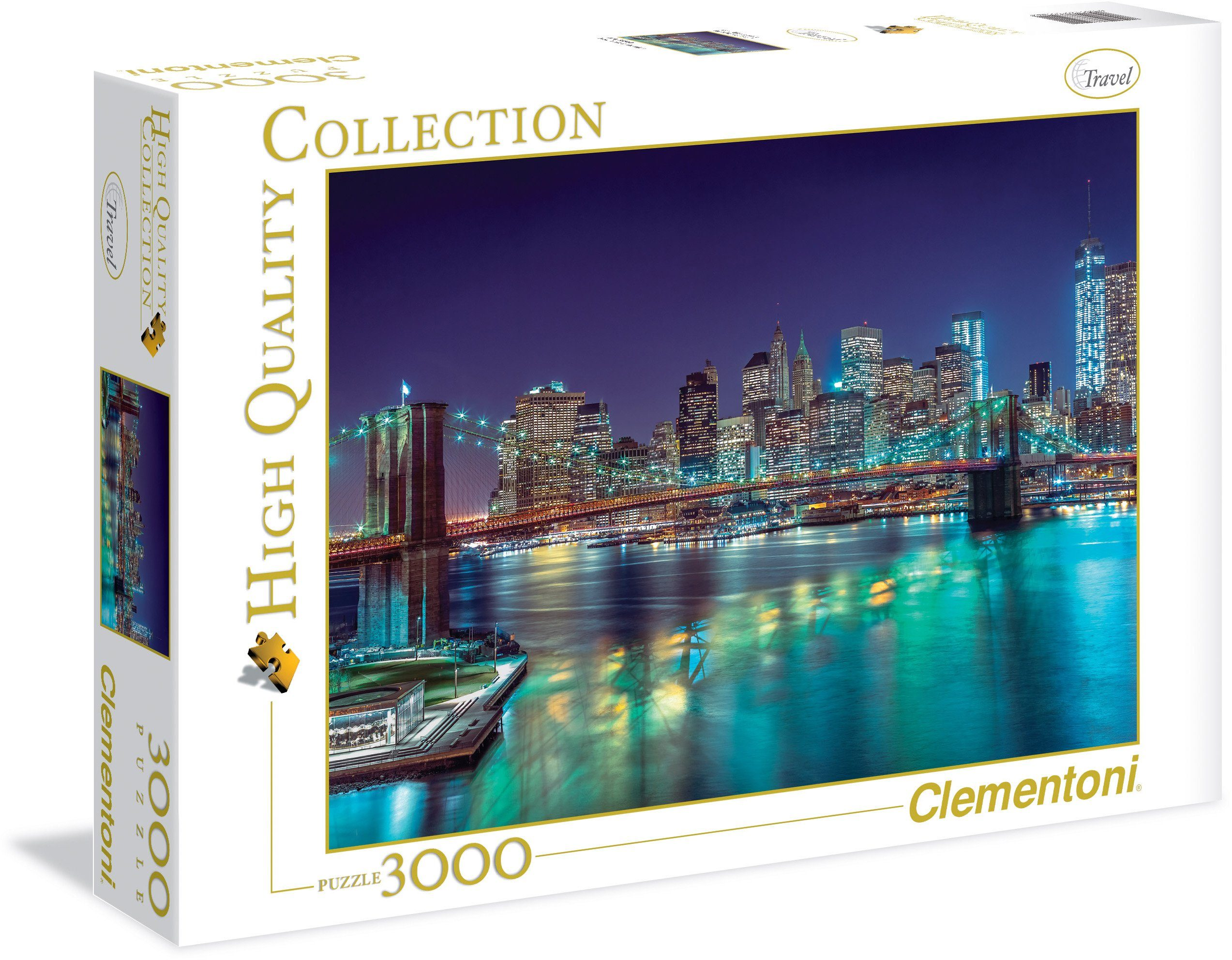Clementoni Puzzle, 3000 Teile, »New York bei Nacht«