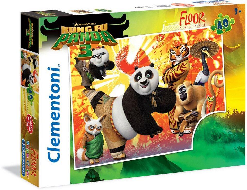 Clementoni Bodenpuzzle, 40 Teile, »Kung Fu Panda 3«