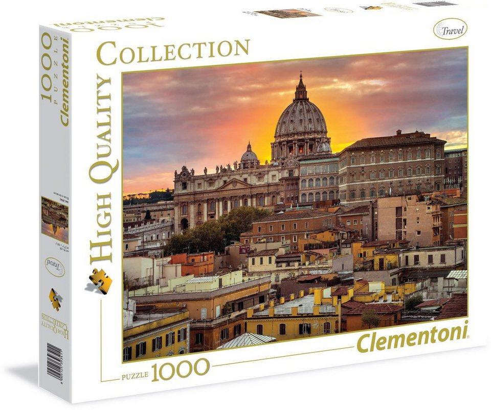 Clementoni Puzzle, 1000 Teile, »Rom bei Sonnenuntergang«