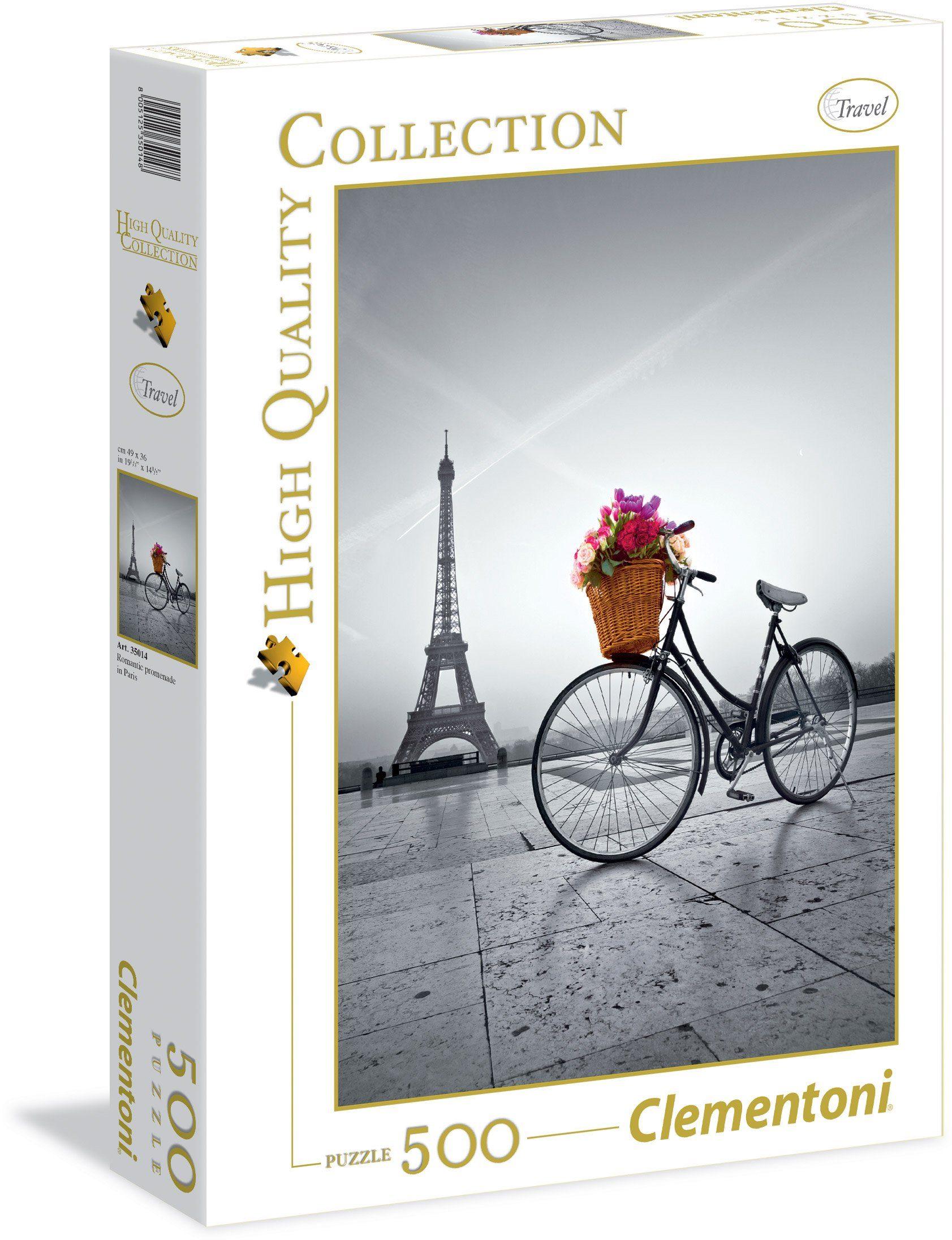 Clementoni Puzzle, 500 Teile, »Romantische Promenade in Paris«