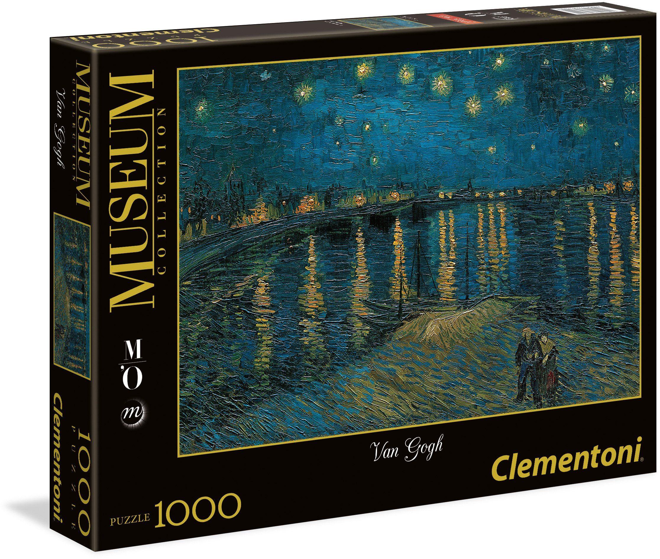 Clementoni Puzzle, 1000 Teile, »Sternennacht über der Rhone«