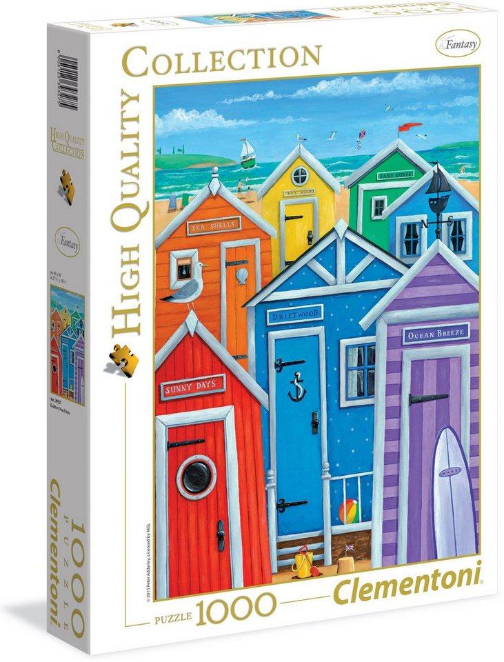 Clementoni Puzzle, 1000 Teile, »Regenbogen Strandhütten«