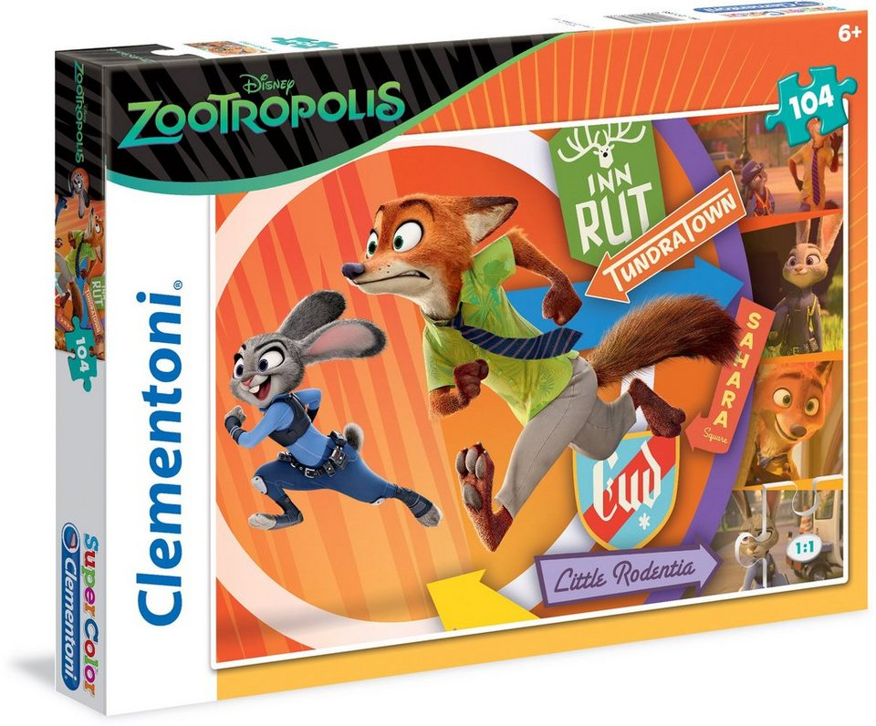 Clementoni Puzzle, 104 Teile, »Disney Zootropolis Keep critters safe!«