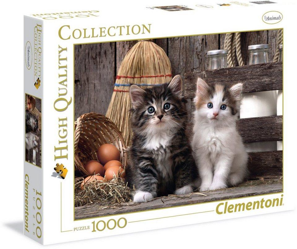 Clementoni Puzzle, 1000 Teile, »Niedliche Kätzchen«