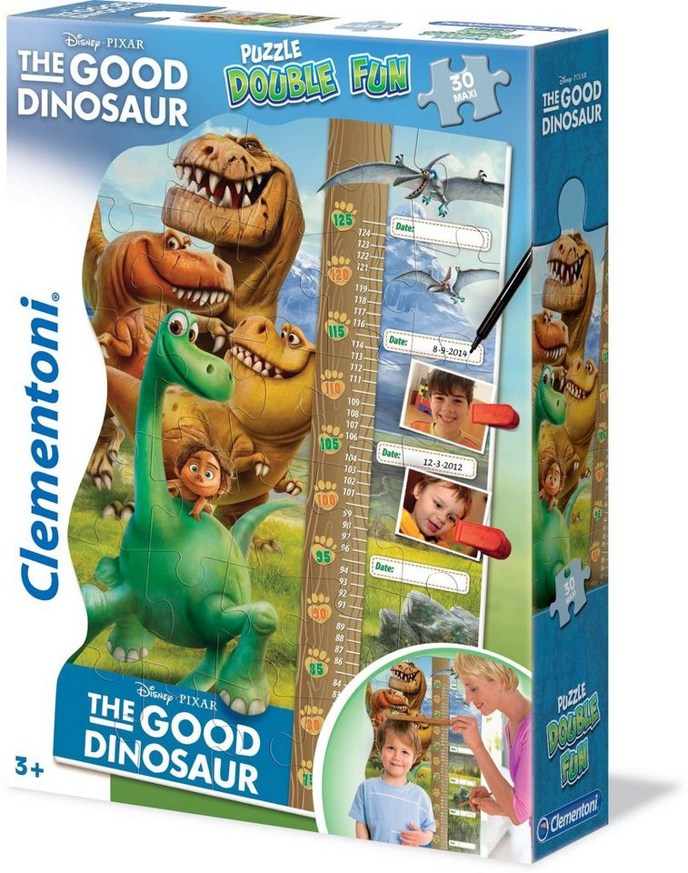 Clementoni Puzzle Maßband 30 Teile, »Disney Pixar Fun Arlo & Spot Puzzle Double Fun«