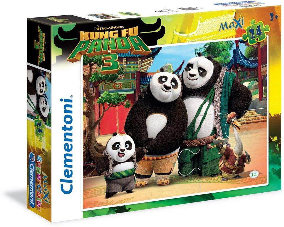 Clementoni Kinderpuzzle, 24 Teile, »DreamWorks Kung Fu Panda 3«