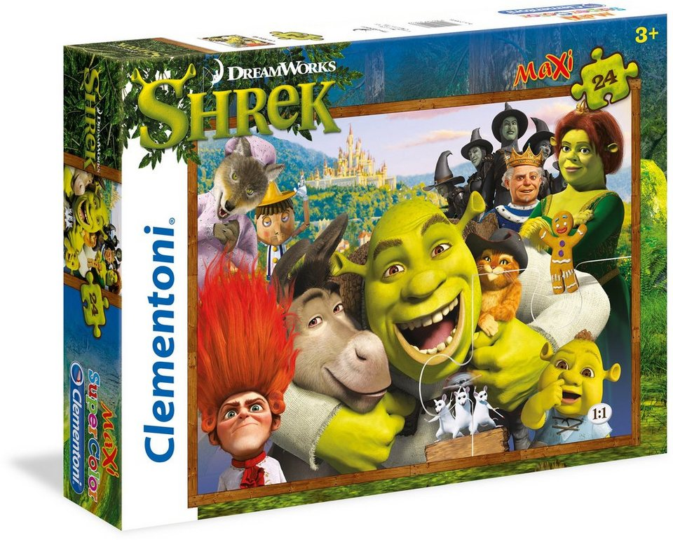 Clementoni Puzzle, 24 Teile, »Dream Works Shrek«