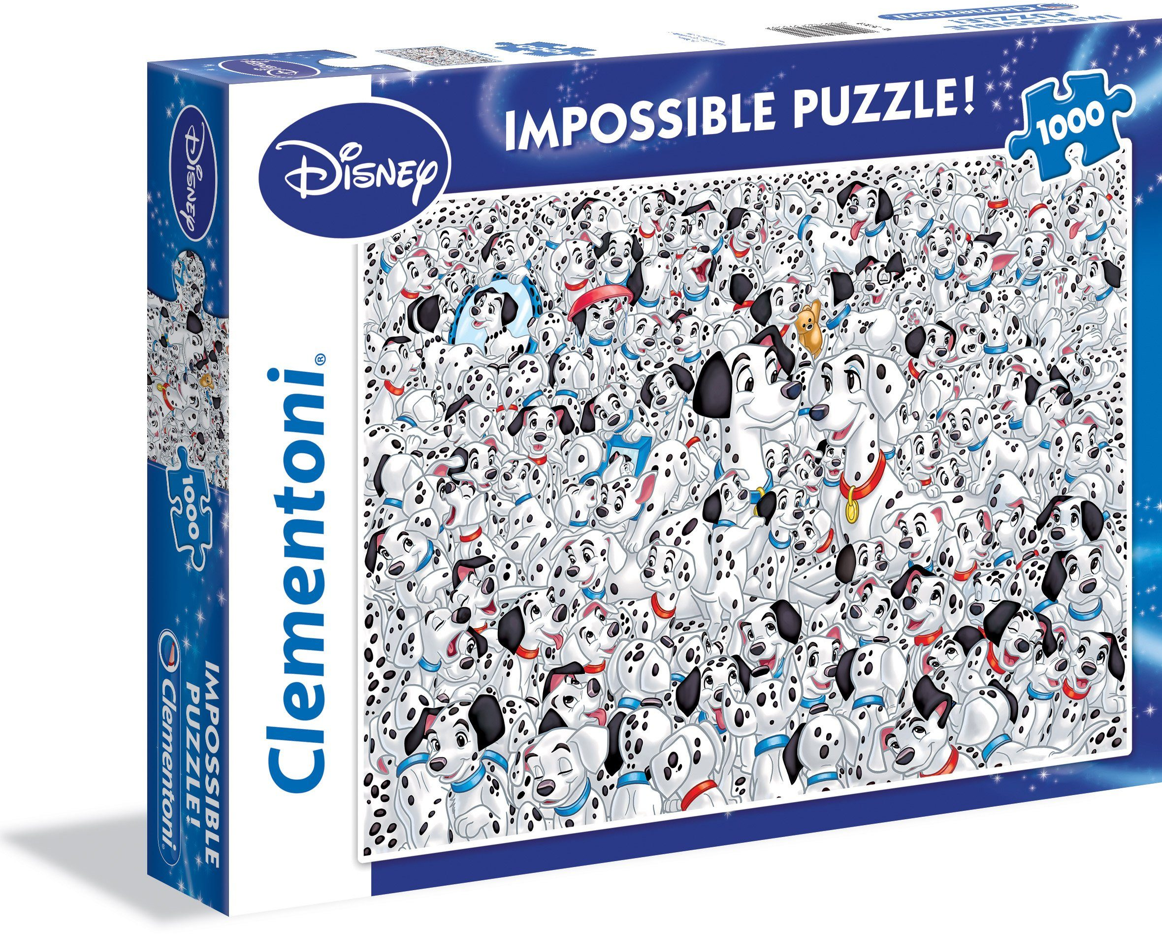 Clementoni Puzzle, 1000 Teile, »Disney 101 Dalmatiner Impossible«