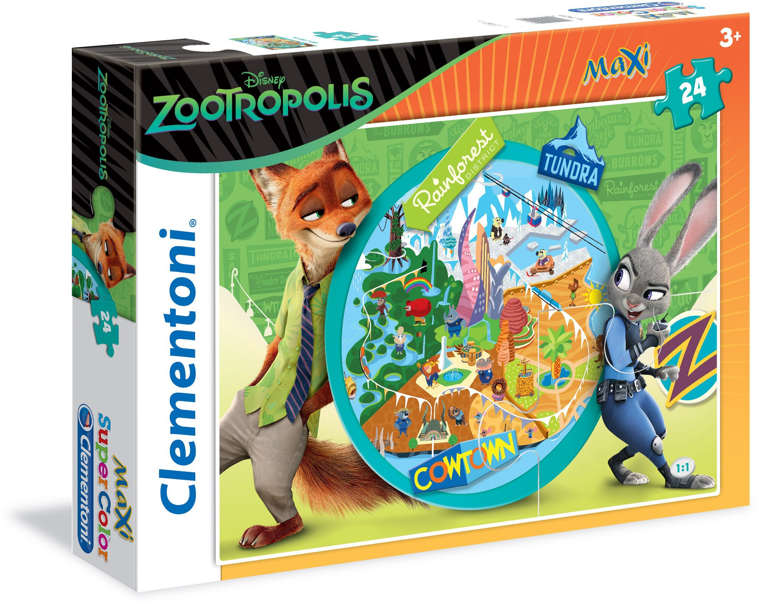 Clementoni Puzzle, 24 Teile, »Disney Zootropolis Welcome to Zootropolis«