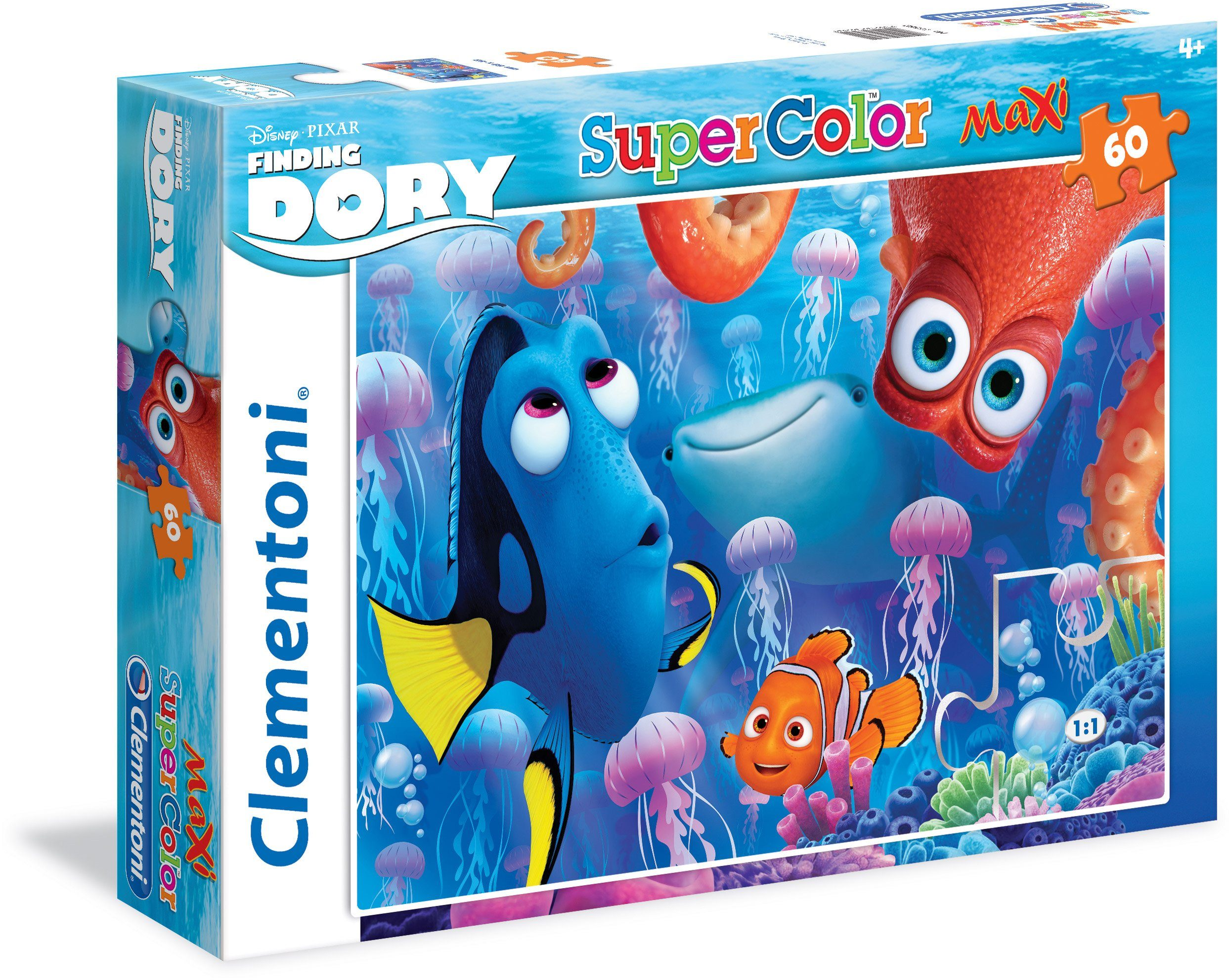 Clementoni Puzzle, 60 Teile, »Disney Pixar Findet Dorie-Swim with friends«