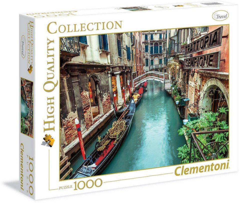 Clementoni Puzzle, 1000 Teile, »Kanal in Venedig«