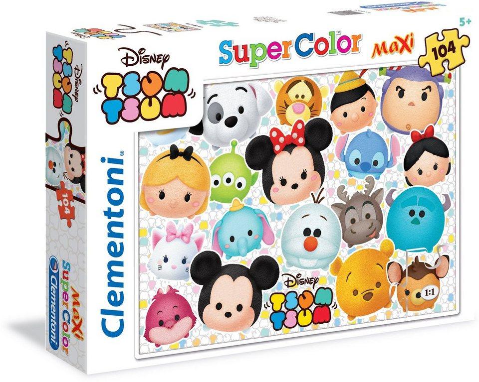 Clementoni Puzzle, 104 Teile, »Disney TsumTsum Lasst uns alle Freunde sein«