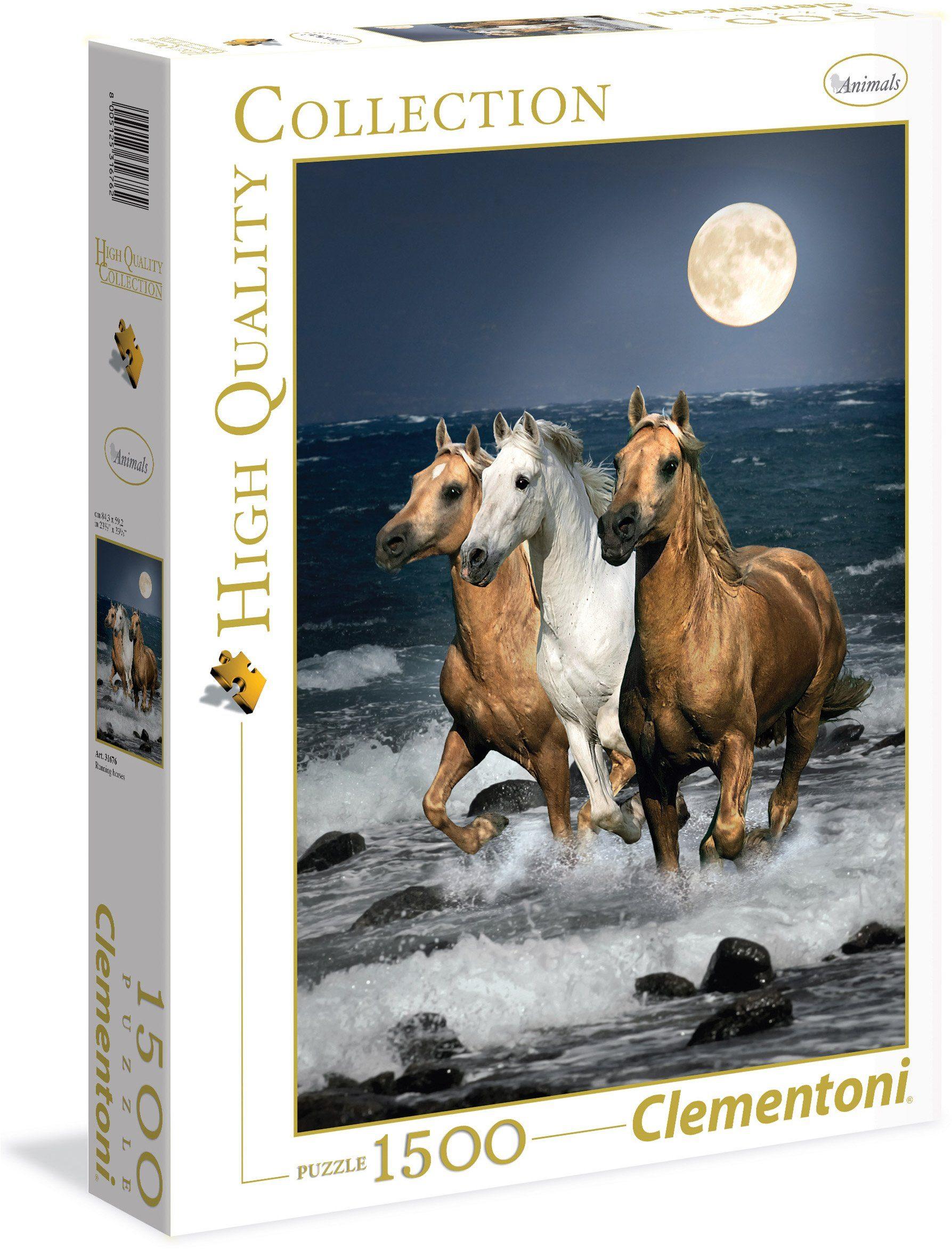 Clementoni Puzzle, 1500 Teile, »Galoppierende Pferde«