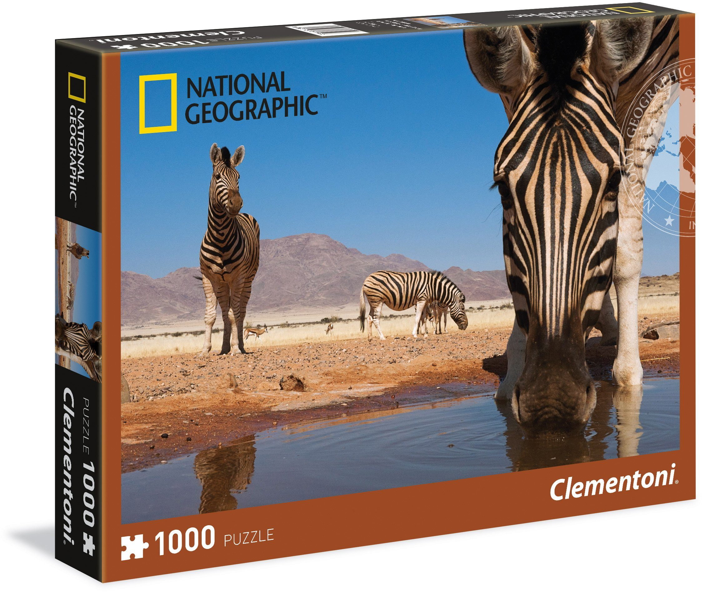 Clementoni Puzzle, 1000 Teile, »National Geographic Zebra«