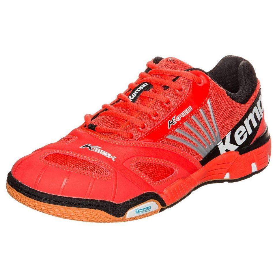 KEMPA Cyclone XL Handballschuh Herren in rot/weiß/schwarz