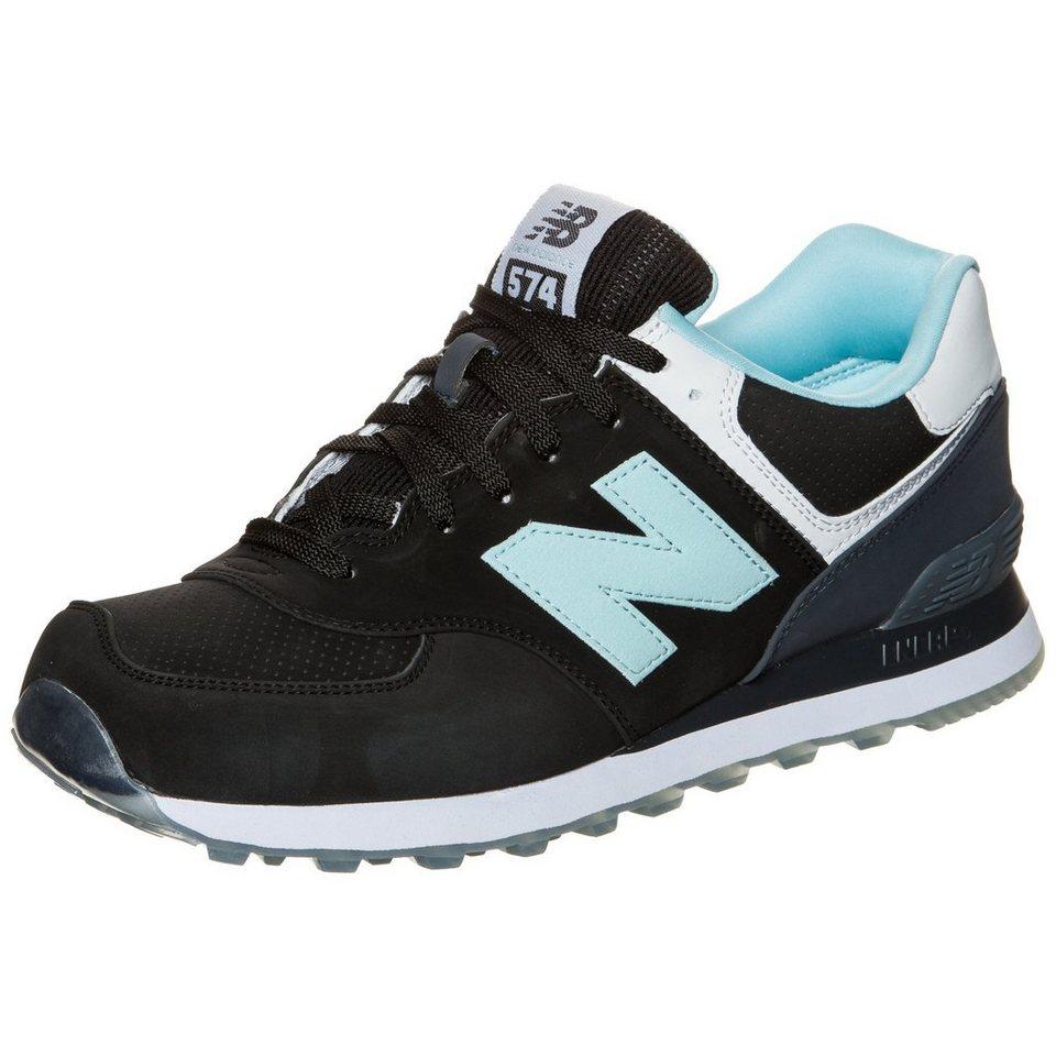 NEW BALANCE ML574-SAB-D Sneaker in schwarz / hellblau