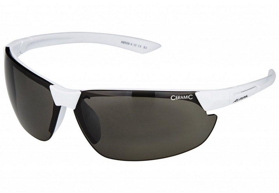 Alpina Radsportbrille »Draff Brille white/black« in weiß