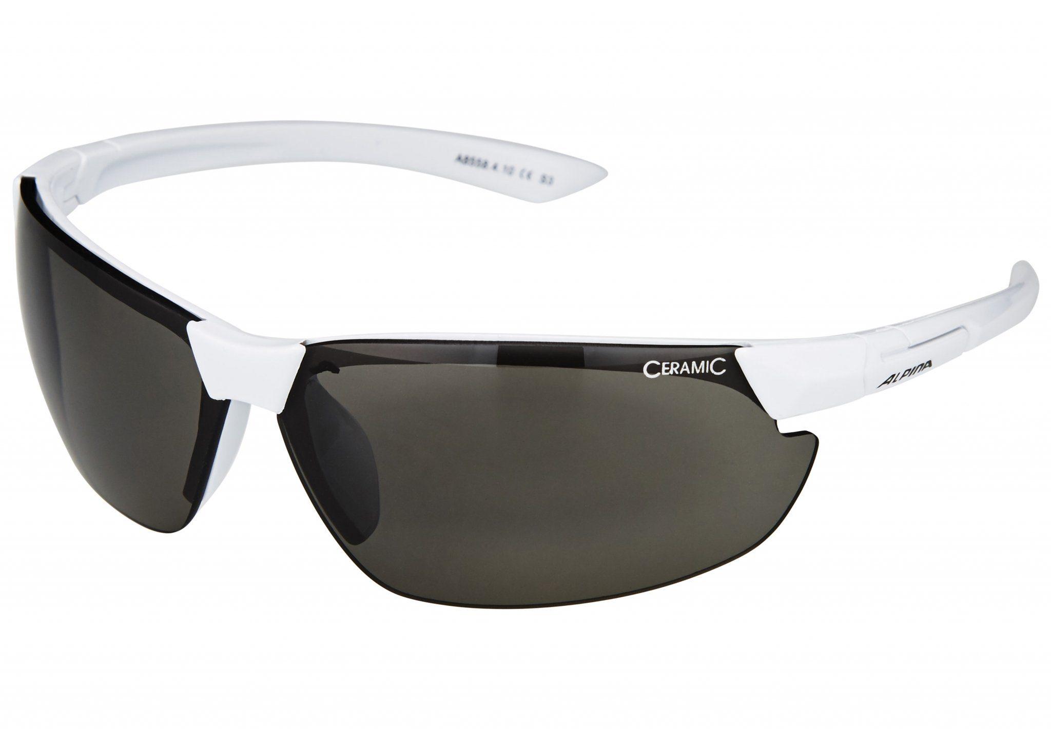 Alpina Radsportbrille »Draff Brille white/black«