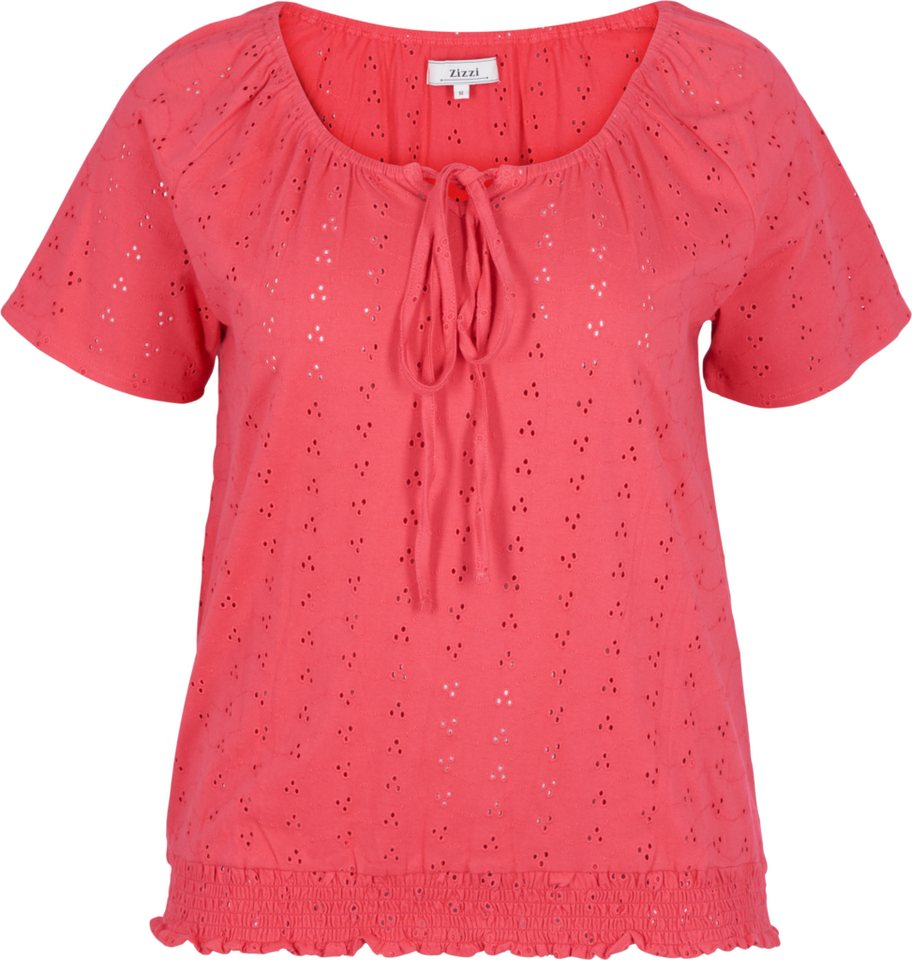 Zizzi Bluse in Rouge Red
