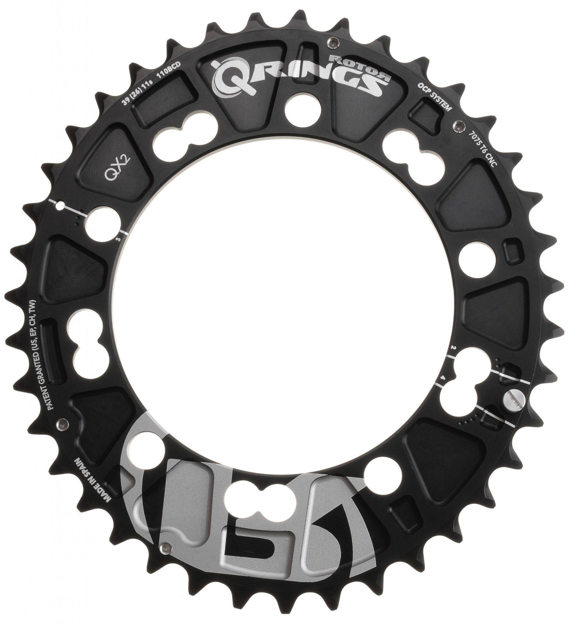 Rotor Kettenblatt »Rotor Q-Ring MTB QX2 Kettenblatt außen 110 mm«
