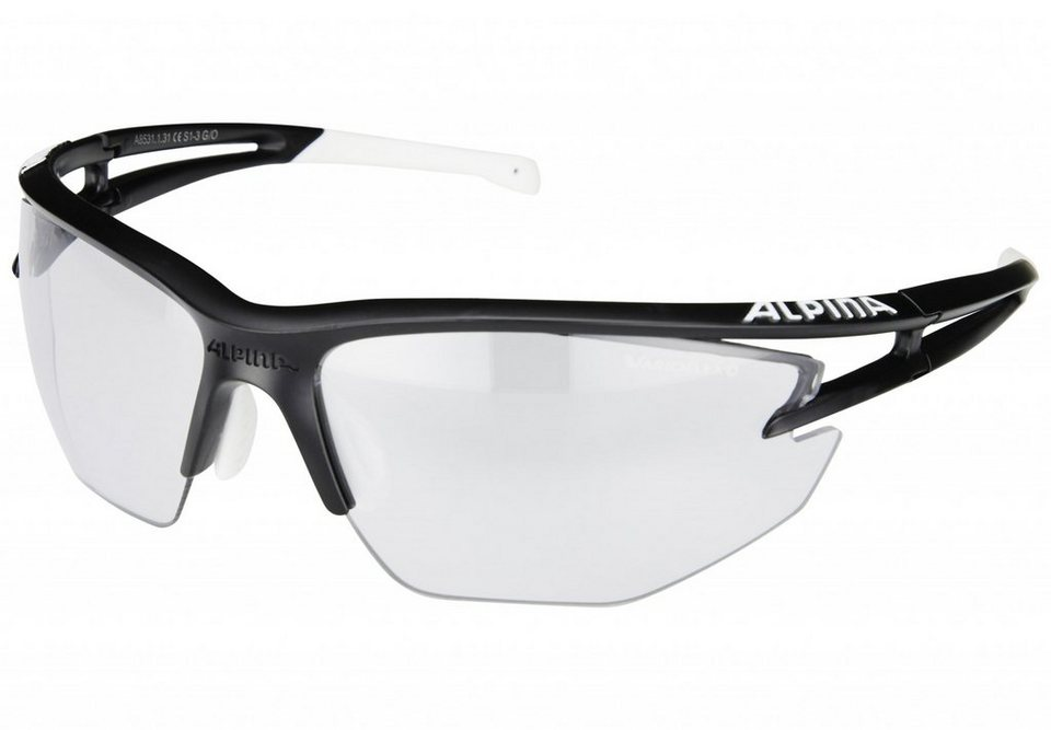 Alpina Radsportbrille »Eye-5 Shield VL+« in schwarz
