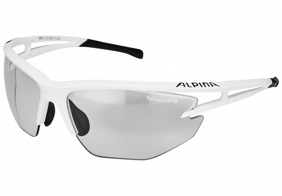 Alpina Radsportbrille »Eye-5 HR VL+« in weiß