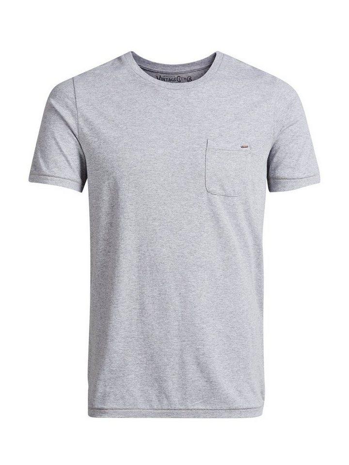Jack & Jones Basic-Eintaschen- T-Shirt in Light Grey Melange