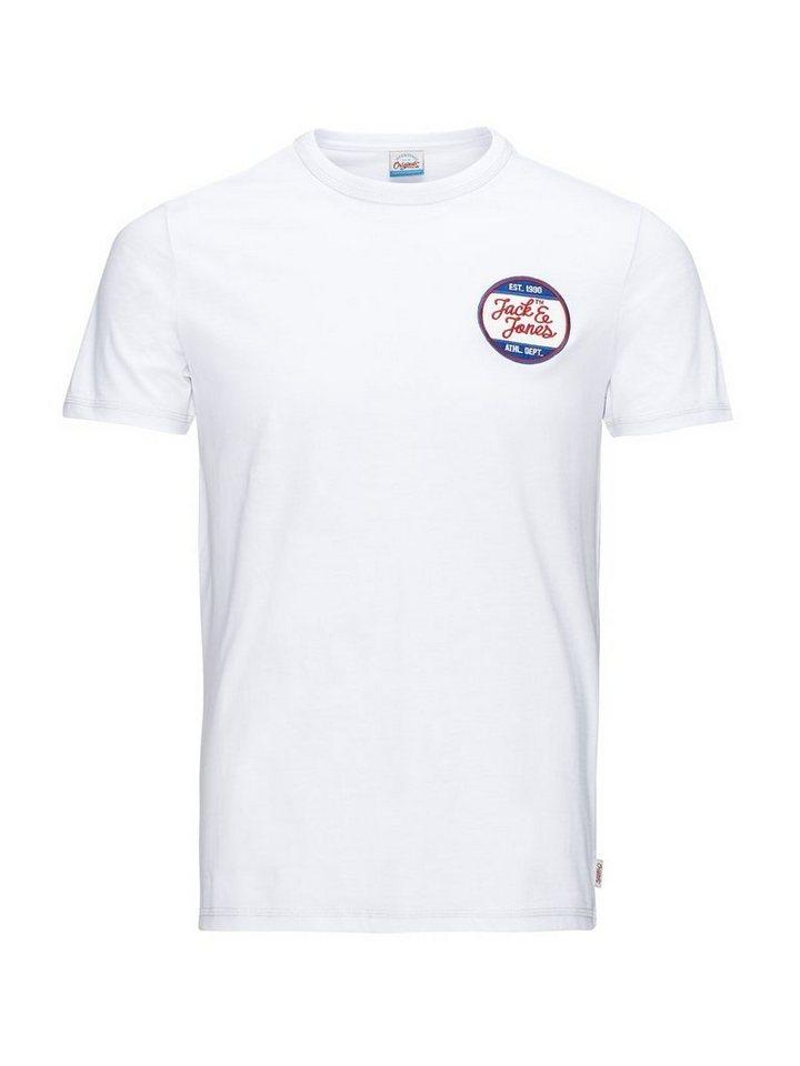 Jack & Jones Lässiges Retro- T-Shirt in White