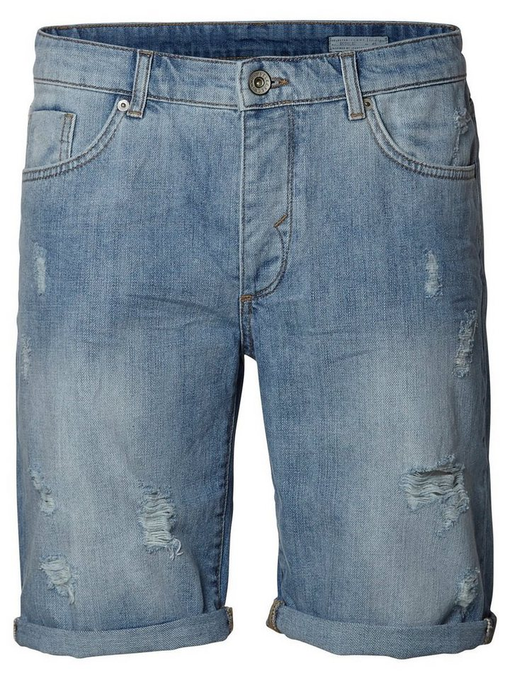 Selected Blaue Jeansshorts in Light Blue Denim