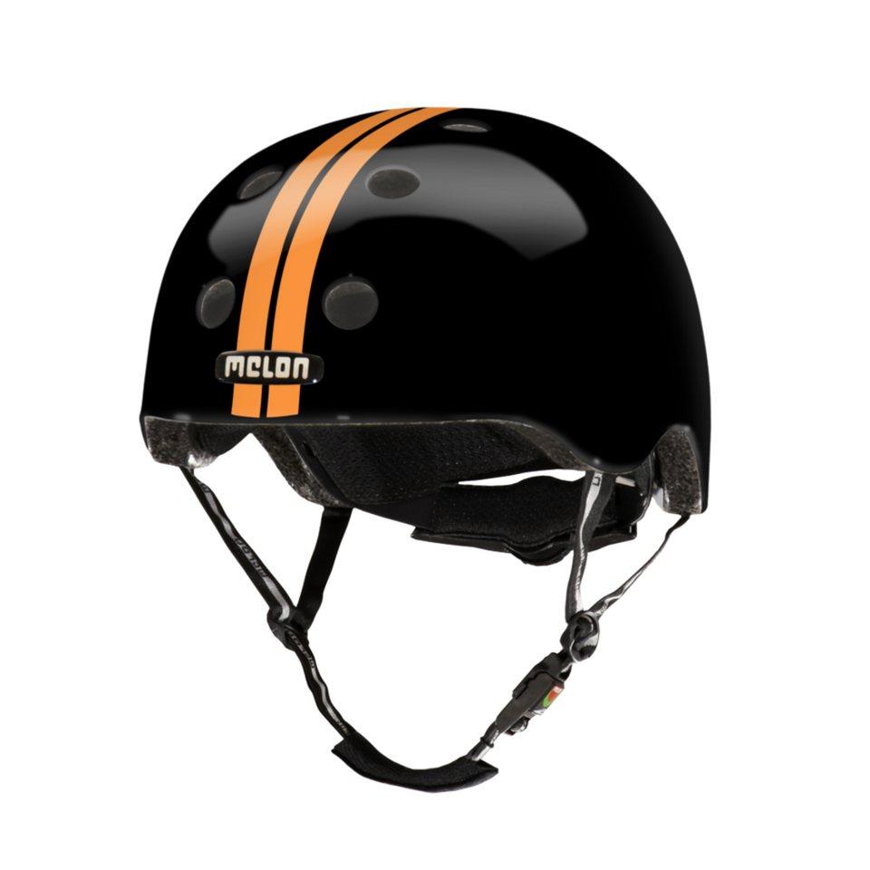 Melon Helm »Stripe Tease Collection - Straight (M-L)« in Orange-Schwarz