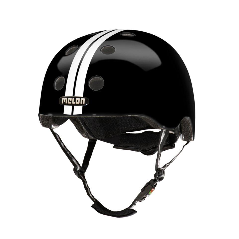 Melon Helm »Stripe Tease Collection - Straight (M-L)« in Weiß-Schwarz