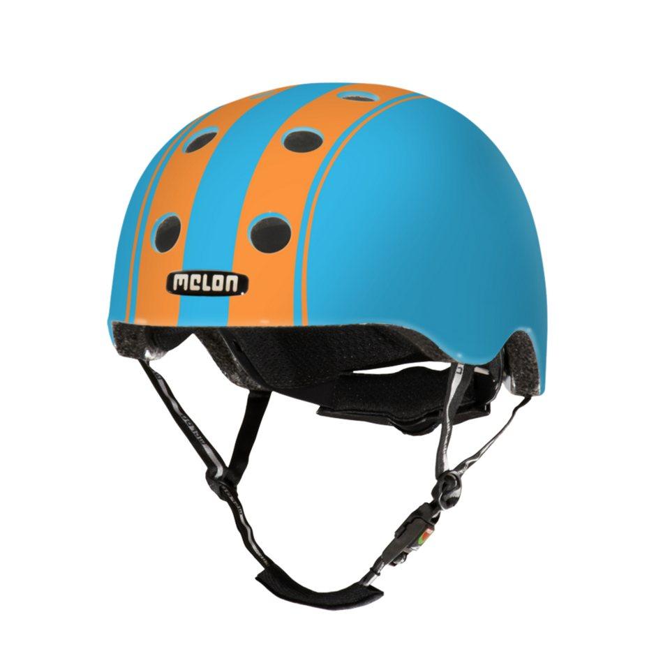 Melon Helm »Stripe Tease Collection - Double (XL-XXL) matt« in Blau-Orange