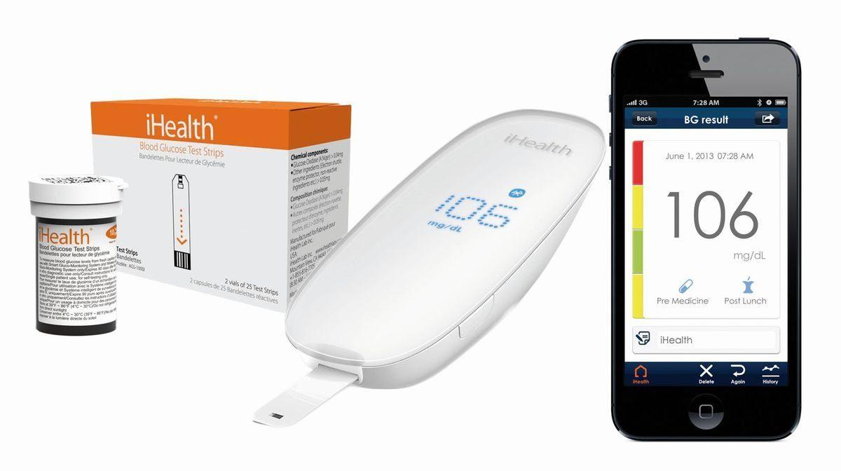 iHealth Blutzuckermessgerät »GLUCO Kabelloses Blutzuckermessgerät Set BG5-Kit«