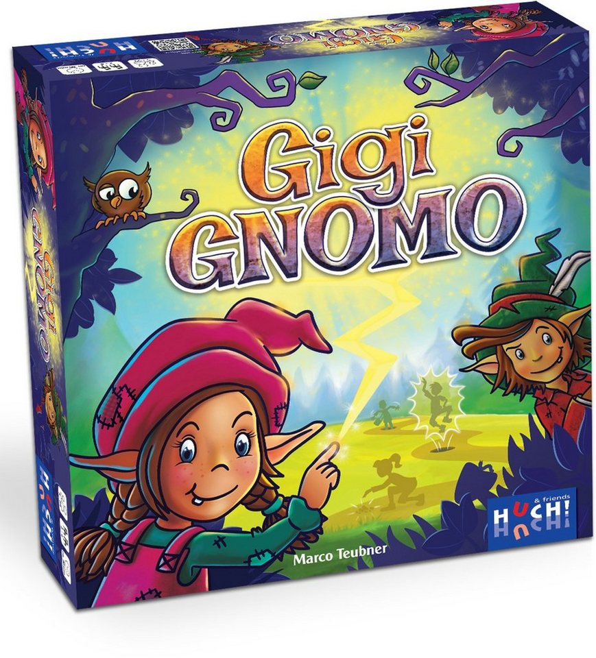 Huch! & friends Brettspiel mit Drehscheibe, »Gigi Gnomo«