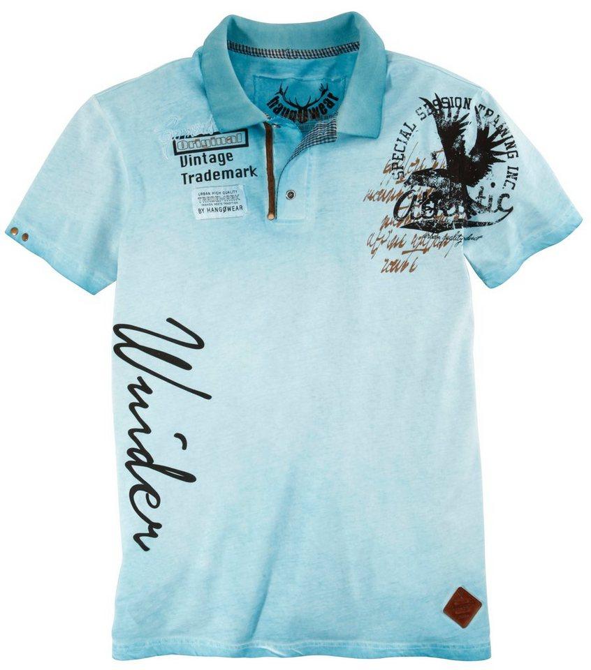 Trachtenshirt Herren mit Printdesigns, Marjo in blau