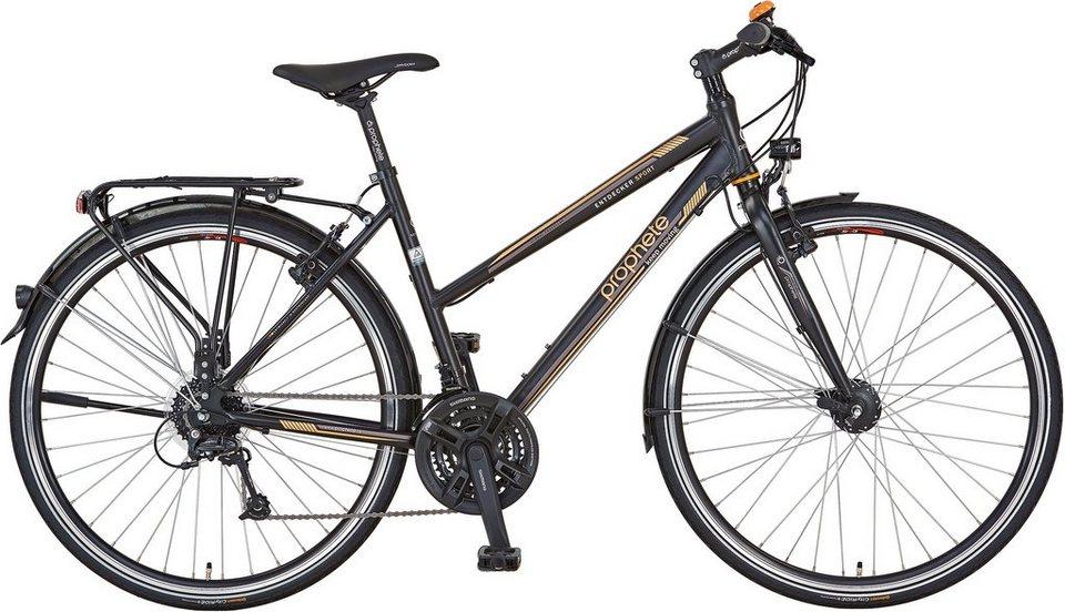 Prophete Damen Trekkingrad, 28 Zoll, 27 Gang Shimano Kettenschaltung, »Entdecker Sport« in schwarz