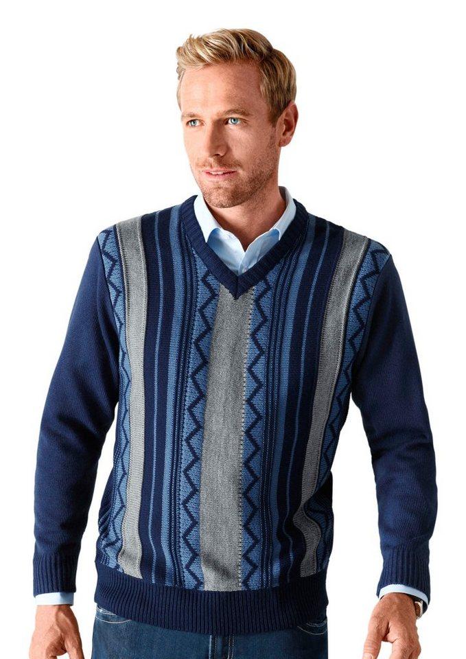 Classic Basics Pullover aus weichem und wärmendem Strick in marine