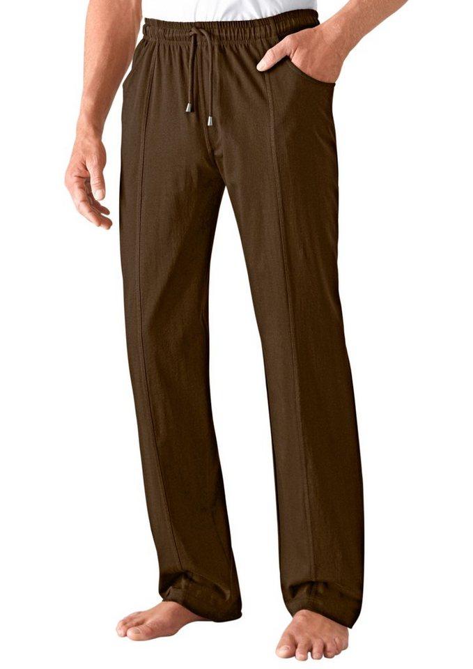 Classic Basics Freizeithose mit streckenden Teilungsnähte in khaki