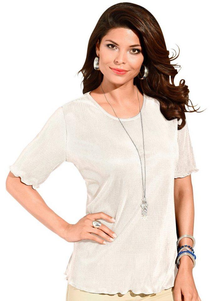 Classic Basics Shirt mit gewellten Abschlüssen in ecru