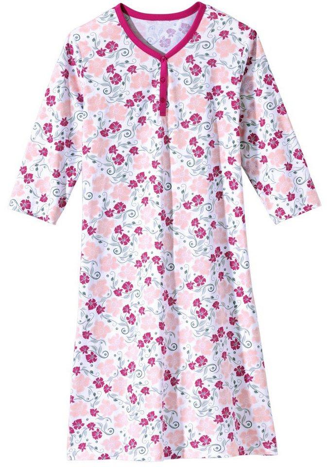 Nightshirt in weiß-pink