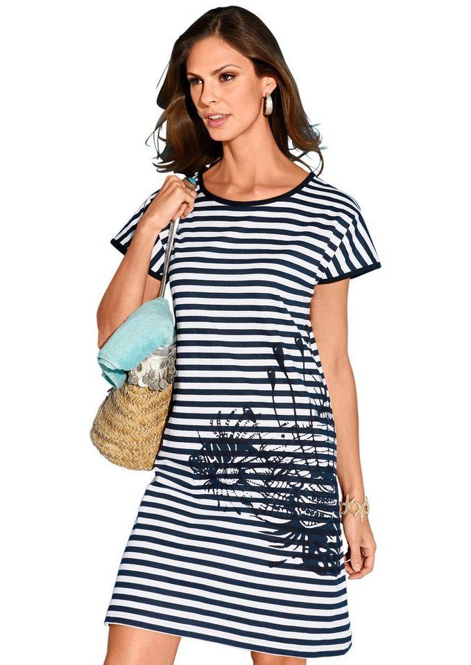 Strandkleid, TopTen in marine-weiß-geringelt
