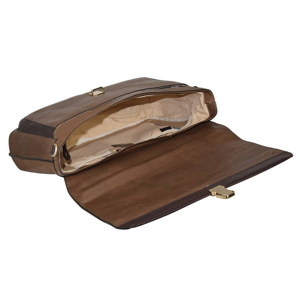 Piquadro Archimede Aktentasche Leder 41 cm Laptopfach in braun