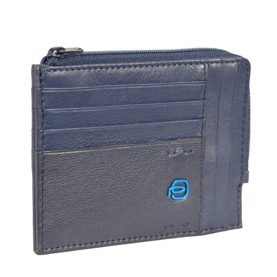 Piquadro Pulse Kreditkartenetui Leder 12,5 cm in midnight blue