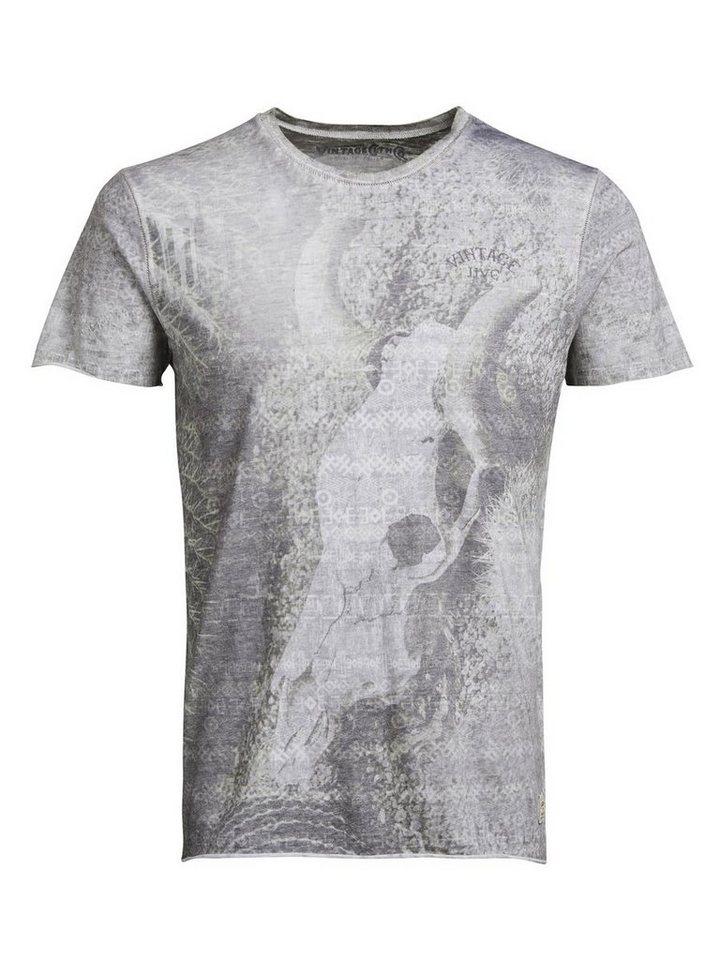 Jack & Jones All-Over-Grafik- T-Shirt in Sleet