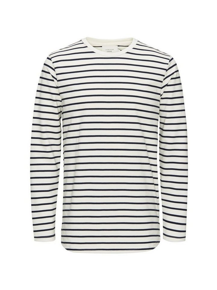 Jack & Jones Gestreiftes Sweatshirt in Lily White