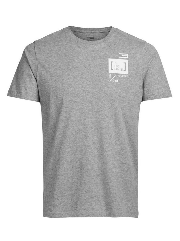 Jack & Jones Bedrucktes Regular fit T-Shirt in Light Grey Melange