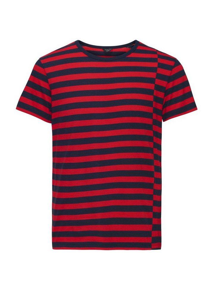 Jack & Jones Gestreiftes T-Shirt in Navy Blazer