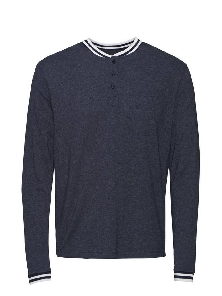 Jack & Jones Sport-inspiriertes T-Shirt mit langen Ärmeln in Navy Blazer
