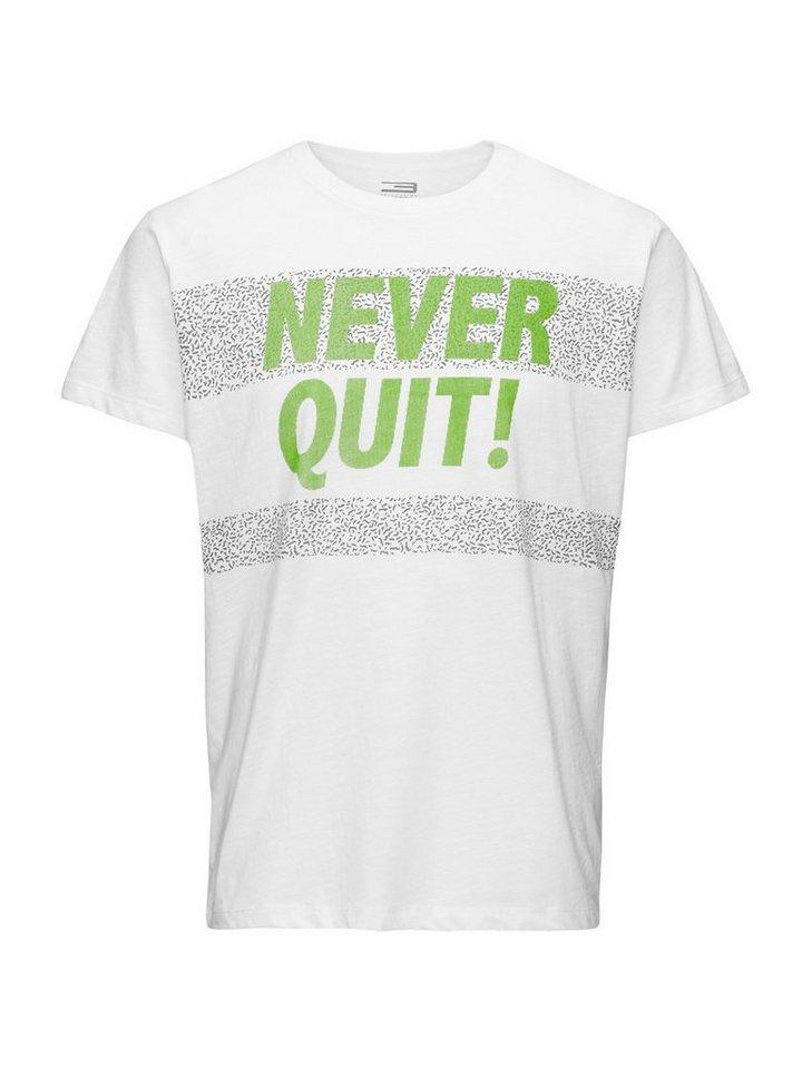 Jack & Jones Bedrucktes Regular fit T-Shirt in White